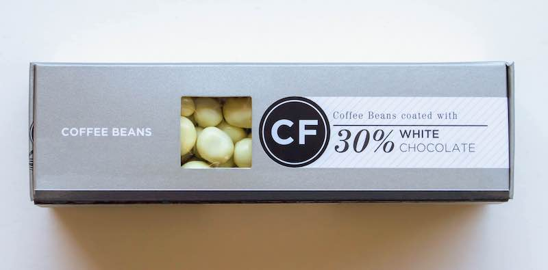 Coffee Beans coated in 35% White Chocolate