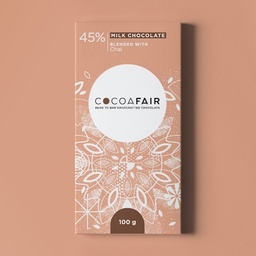 45% Milk Chocolate with Chai 100g