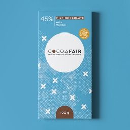 45% Milk Chocolate sweetened with Maltitol 100g